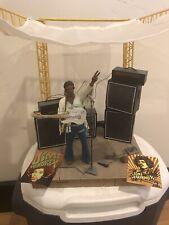 Mcfarlane Toys Jimi Hendrix Figure Woodstock Stage Boxed Set Loose & Complete