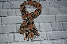 burberrys SHAWL BURBERRY 100%  CASHMERE SCARF FRINGLE BEIGE CHECKS england