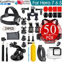 50x Accessories Pack Case Head Chest Monopod Bike Surf Mount for GoPro Hero7 6 5