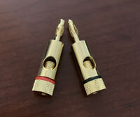 4mm Banana Plug Cable Connector Wire Gold Black Red B&W Marantz Mission Onkyo C