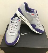 Nike Air Max 1 ID NikeiD Grey Silver Purple Splatter Mens Size 7 - 87 90 95 98