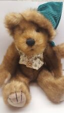 First & Main plush Teddy Bear Edgar B Evergreen Christmas green hat and vest