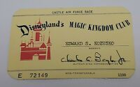 Disneyland Vintage 1962 Magic Kingdom Club Card Castle Air Force Base