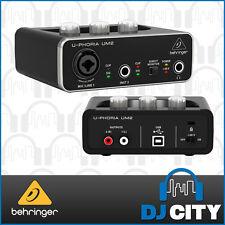 UM2 U-PHORIA Behringer  2x2 USB Audio Interface & Mic Pre - DJ City Australia