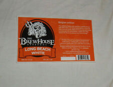 BrewHouse Barbados BEER LABEL Long Beach White Belgian Witbier