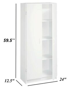 STORAGE CABINET PANTRY Organizer Wood Furniture Kitchen Utility Cupboard Slim