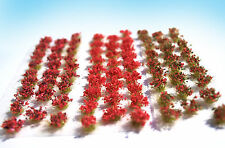 Miniature Flower Tufts Red mix HO O scale for model railway & dollhouse diorama