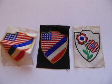 LOT DE 3 INSIGNES TISSU LIBERATION 1944 FRANCE LIBRE  FFL / RESISTANCE