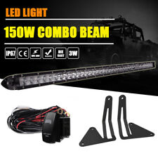 "30"" LED Light Bar w/Hidden Bumper Mount Brackets 15-17 GMC Canyon Chevy Colorado"