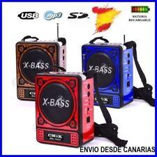 Altavoz Portatil Mp3 Radio FM Usb SD/Micro SD Linterna Bateria Recargable