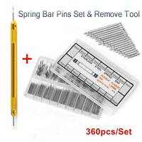 Watchmaker Watch Band Spring Bars Strap Link Pins &Remover Steel Repair Kit Tool