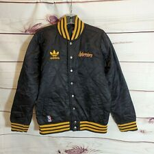 Adidas NBA Golden State Warriors Quilted Bomber Jacket Boys Large 14-16