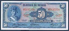 MESSICO - 50 PESOS Pick n° 49 del 24 avril 1963 in nove serie AVH W5135758