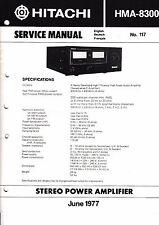 INSTRUCCIONES MANUAL DE SERVICIO PARA Hitachi hma-8300