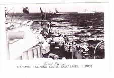 TACTICAL EXERCISES--US NAVAL TRAINING CENTER---GREAT LAKES ILLINOIS---POSTCARD