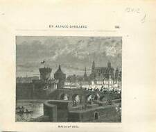 Metz au XVe siècle Lorraine la Moselle dessin de Gustave Doré GRAVURE 1877