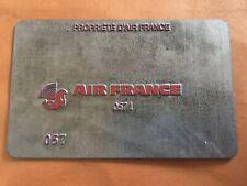 Air France Airlines Vintage Metal Ticket Validation Plate