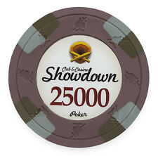 "25 ct Olive Purple $25000 25k Twenty-Five Thousand ""Showdown"" 13.5g Poker Chips"