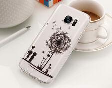 Samsung Galaxy S7 Handy Schutz Hülle Cover Case Etui mit Motiv Baum / Pusteblume