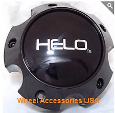 Helo 1079L140AHE1GB Center Cap Gloss Black w/bolts fits 5x135 Ford Wheel only