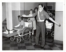 1962 Chicago Sun Times press photo safety patrol for Shriners Hosp.wheel chairs