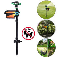 Solar Powered Motion Activated Animal Repellent Sprinkler Black New