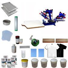 TECHTONGDA 4 Color 1 Station Screen Press & Screen Printing Materials Kit