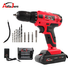 Autojare Cordless drill Driver  Li-Ion Battery Electric with bits Powerful Tool