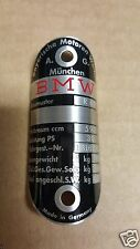 BMW Motorcycle Bike Badge Emblem Acid Etched Aluminum 1960s era
