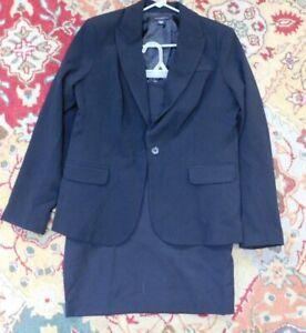 Metaphor Black Career Dress Jacket Blazer & Skirt Suit~Size 12 Junior