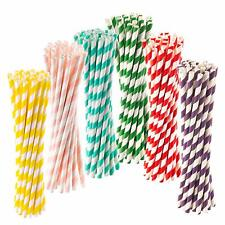More details for 250pcs paper straws eco friendly biodegradable drinking straws 8
