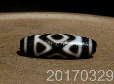 Tiger Teeth & 3 Eyes Tibet Agate Old Dzi Bead Amulet for Gift 1703294419