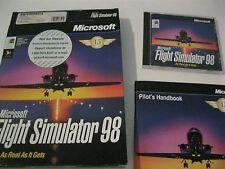 Microsoft Flight Simulator 98 PC game complete CD-ROM 1997