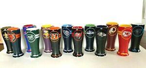NFL CERAMIC 2.5 PILSNER SHOT GLASS CHOOSE YOUR TEAM