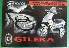 GILERA RUNNER FX125 FXR180 DEPLIANT BROCHURE CATALOGO CATALOG