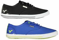 MENS NEW VOI JEANS FIERY PATENT LACE-UP TRAINERS BLACK BLUE LOW SNEAKERS 6-12