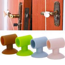 Door Handle Silicone Sucker Doorstop Crash Pad Wall Protector Home Door Stop