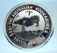 1993 AUSTRALIA Kookaburra Bird Tree 1 oz Silver 1 Dollar Australian Coin i77563