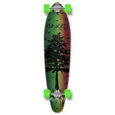 Yocaher Kicktail Longboard Complete - In the Pines : Rasta