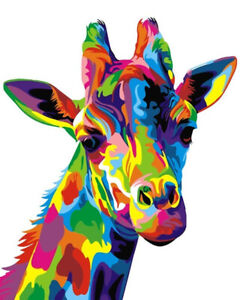 rainbow giraffe   IRON ON T SHIRT TRANSFER