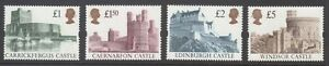 GB 1988 Castles set of 4 mint unhinged, clean and fresh