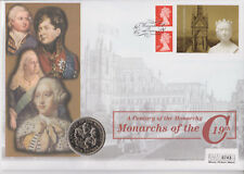 More details for gb pnc coin cover 2001 a century of the monarchy monarchs £5 guernsey coin