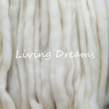 SPINNING FELTING Top Wool Roving Craft Fiber NEEDLE WET SOAP natural pre-drafted