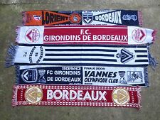 Lot 5 Echarpe GIRONDINS de BORDEAUX vintage Finale Coupe de la Ligue supporter
