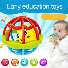 Baby Teether Rattle Toy Intelligence Grasping Hand Bell Funny Hollow Exquisite