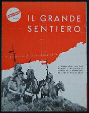 "original italian movie program for 1930 ""THE BIG TRAIL"" Raoul Walsh italian cast"