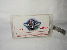 GRATEFUL DEAD ALL ACCESS LAMINATED PASS OTTO NUMBER 26 WITH SNAP CLIP UNUSED