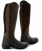 TOGGI LEATHER RIDING BOOTS QUARTZ Long Zip - Ladies Nubuck SALE cheap sz 6.5/40