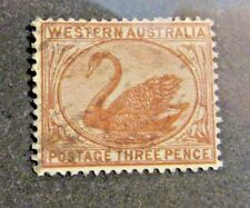 WESTERN AUSTRALIA Scott #53 Θ used Swan - Three Pence postage stamp