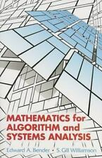 Dover Books on Mathematics: Mathematics for Algorithm and Systems Analysis by...